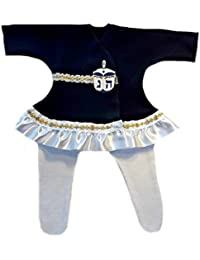 Preemie Dresses-Jacqui's Baby Girls' Beautiful Hanukkah Dreidel Dress Set