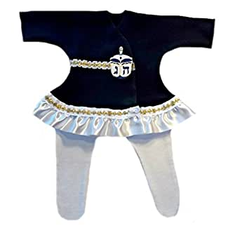 Jacqui's Baby Girls' Beautiful Hanukkah Dreidel Dress Set, Preemie