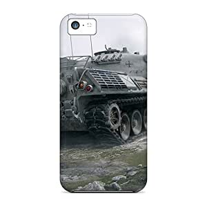 For Mialisabblake Iphone Protective Case, High Quality For Iphone 5c Leopard 1 World Of Tanks Skin Case Cover