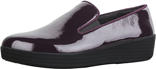 FitFlop Trade; Superskate™ Crinkle-Patent Loafers Deep Plum Size (Crinkle Patent Footwear)