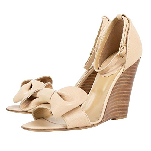 a56dbb3c5 ... Red Valentino Women's Valentino with Bow Ankle Strap Wedge Heels Shoes  /37 7 Beige ...