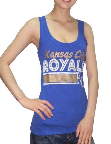Kansas City Royals MLB mujer atlética de cuello redondo camiseta (aspecto vintage), MLB, Mujer, color Azul - azul, tamaño large Azul - azul