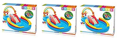 Intex Rainbow Ring Inflatable Play Center, 117 in X 76 in X 53 in ummhQZ, for Ages 2+, (3 Pack)