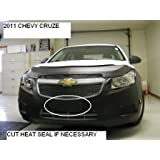 Car Mask Bra Fits Lebra 2 Piece Front End Cover Black Chevy Chevrolet Cruze With RS Package 2011-2013