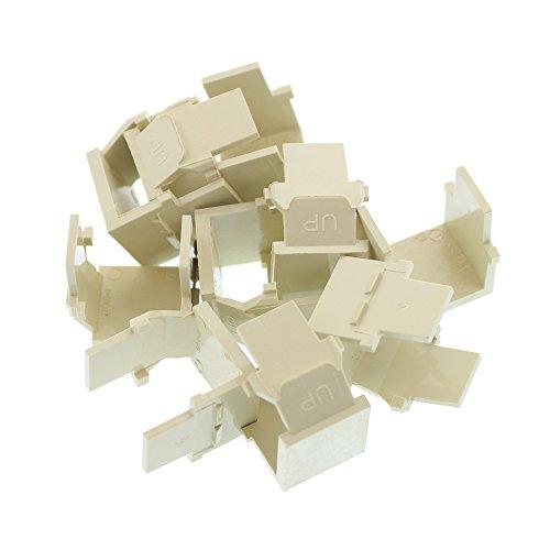 Leviton 41084-BIB Quickport Blank Insert Connector, Ivory, Quantity 1