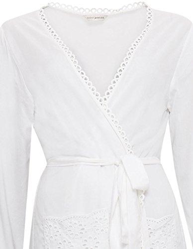 Cyberjammies 3334 Women's White AOE Range White Modal Dressing Gown Loungewear Bath Robe Robe