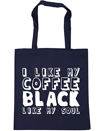 HippoWarehouse - Bolsa de playa de algodón  Mujer, negro (negro) - 21510-TOTE-Black azul marino