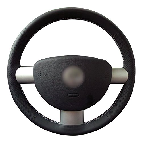 MEWANT Black Artificial Leather Customized Car Steering Wheel Cover for Volkswagen VW Beetle 2003-2010 -