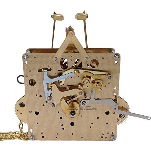 Qwirly Store: Grandfather Clock Movement by Hermle 451-053H (Hand Shaft) with 75, 85, 94, 114 cm Gearing (94 cm)