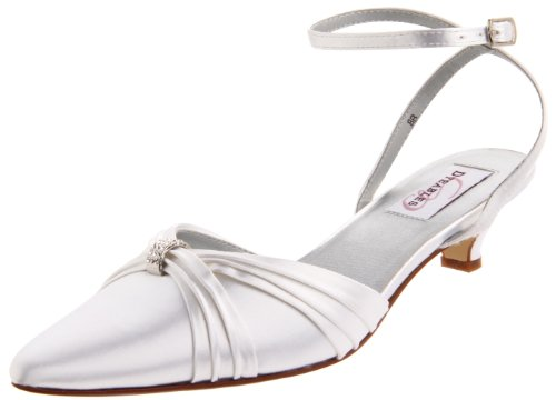 Dyeables Women's Willow Ankle-Strap Sandal,White Satin,7.5 B US