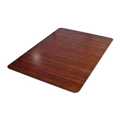 orative Chair Mat, Hard Floor Use, Rectangle, Straight Edge, 45 x 53 Inches, Bamboo Print (CM23242BAM) ()