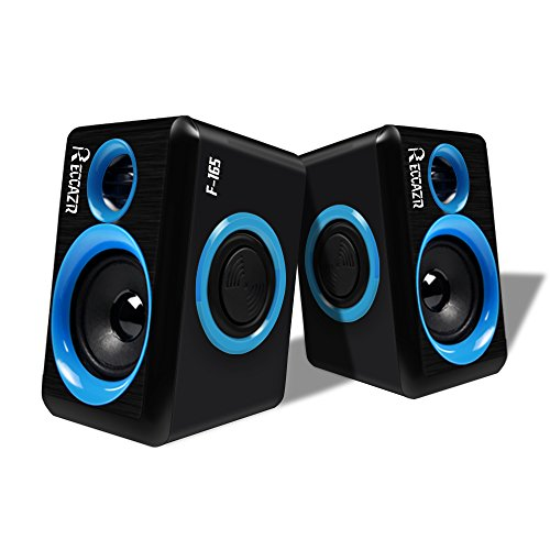 Computer Speakers With Surround Subwoofer Heavy Bass USB Wired Powered Multimedia Speaker for PC/Laptops/Smart Phone RECCAZR Built-in Four Loudspeaker (Dual Laptop Speakers)