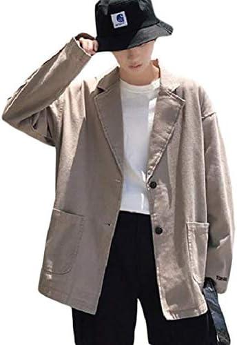 [ShuMing]ジャケット メンズ 無地 ブレザージャケット 韓国ファッション テーラード ジャケット カジュアル アウター 春服