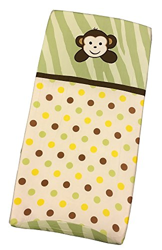 Sisi Baby Design Diaper Changing Table Pad Cover - Jungle Monkey Green by Sisi