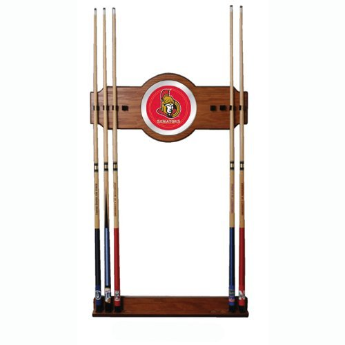 NHL Two-piece Wood and Mirror Wall Cue Rack by Trademark (Nhl 2 Piece Wood)