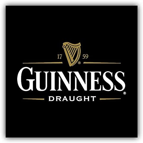 Guinness Draught Beer Logo Car Bumper Sticker Decal 3/'/' or 5/'/'