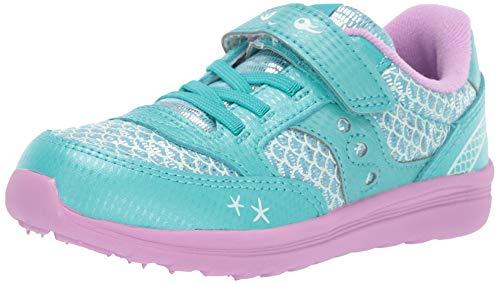 Saucony Girls' Baby Jazz Lite Sneaker, Turquoise/Mermaid, 105 Medium US Little Kid