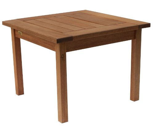 (Amazonia Milano Square and Solid Side Table |Super quality Eucalyptus Wood| Perfect for gardens and patios)