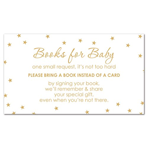 - MyExpression.com 48 cnt Twinkle Twinkle Little Star Book Insert (Gold Color on White)
