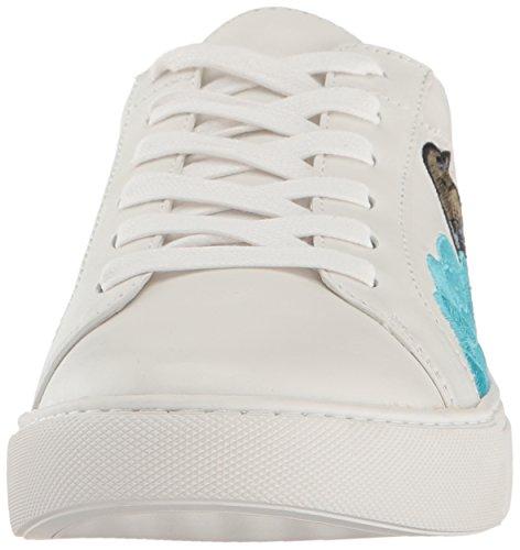 Kenneth Cole Women's Kam Ii Low-Top Sneakers, White, Medium Blue/Multi