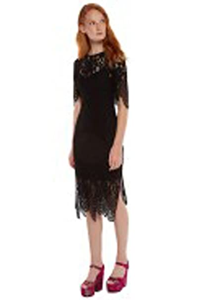 4aa2023fa5594 ESSENTIEL ANTWERP OSSEINA Lace Dress, Noir (36): Amazon.co.uk: Clothing