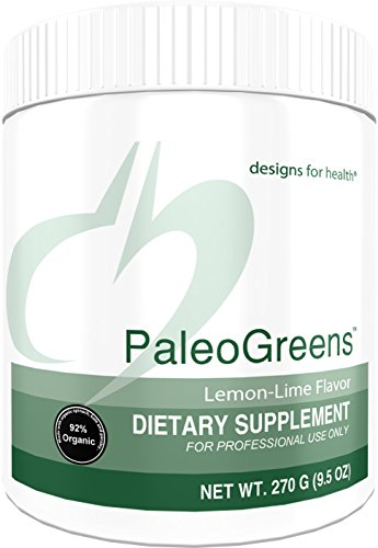 Powder Alkalizing (Designs for Health - PaleoGreens Powder Lemon, Lime - Organic Alkalizing Vegetables, Enzymes & Antioxidants + No Fillers + Non-GMO, 270 Grams)