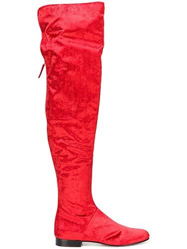 rosso J620682030115 Stivali in Ferretti donna da velluto Alberta Fxq1vwz