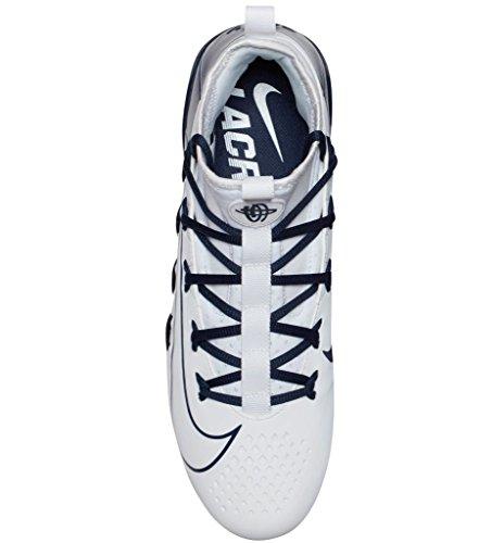 Nike Alpha Huarache 6 Elite Lax Mens 880409-114 Bianco / Bianco-college Blu Scuro