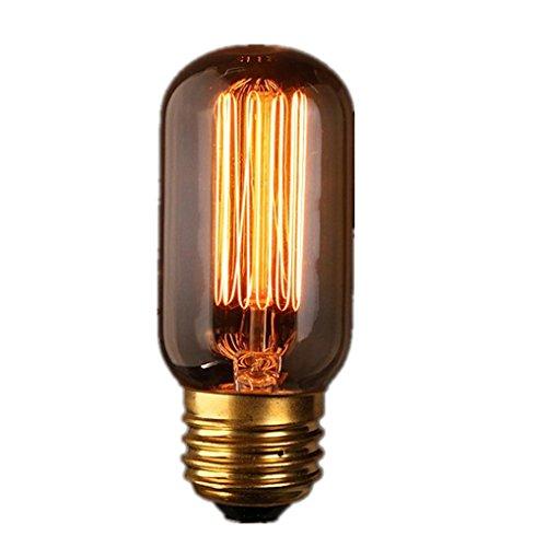 LED Light Home Decor, Rumas Filament Light Bulbs Vintage Industrial LED Edison Lamps T45 E27 40W 2300K (110V)