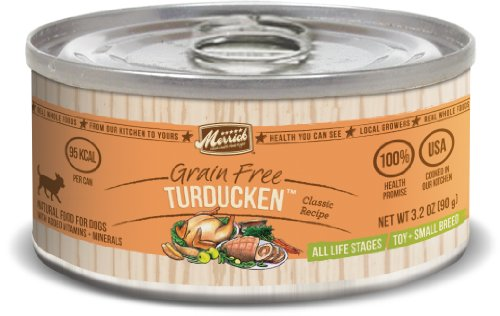 Merrick Classic 3.2-Ounce Small Breed Turducken Dog Food, 24 Count Case