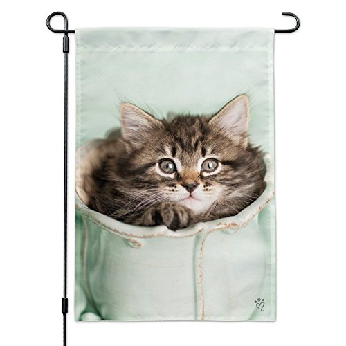 Graphics and More Manx Kitten Cat Vase Garden Yard Flag with