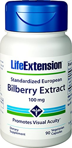 Life Extension Bilberry Extract 90 V-Capsules, 100 mg, 90 Count Review