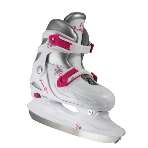 American Athletic Shoe Girl's Party Adjustable Figure Skates, White, Large/Size 5-8, Teen/Adult by American Athletic