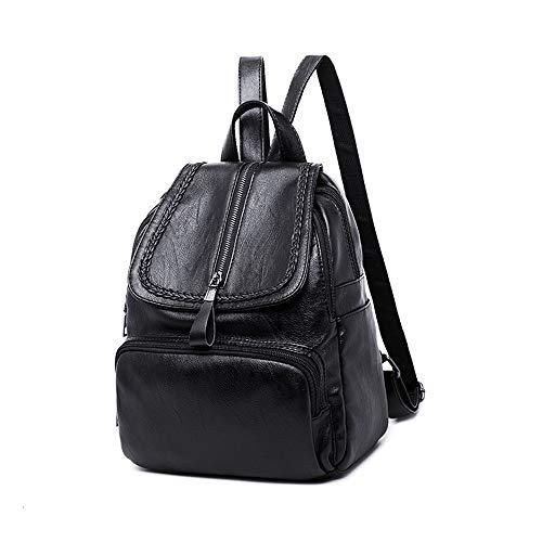 Señoras La Mochila Bolsos Zipper Hombro Las Casual Bolsas Leather Mujer Lady De Mochilas Monedero Pu Bags Yuflangel Backpack Purse Uq4aR5wx