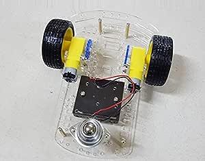 مجموعة عدة صناعة هيكل سيارة رجل آلي ذكي - اردوينو - 2 عجله - دورين