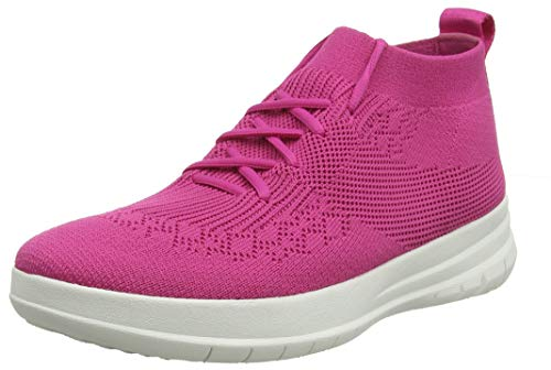 Top fuchsia High Sneaker on 058 Fitflop Femme Uberknit Hautes Slip Baskets Purple wTOqxtIaxv