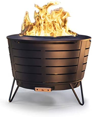 TIKI Brand 25 Inch Stainless Steel Low Smoke Fire Pit
