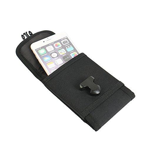 bolsa del cinturón / funda para Ruggear RG760, negro + Auriculares | caja del teléfono cubierta protectora bolso - K-S-Trade (TM)