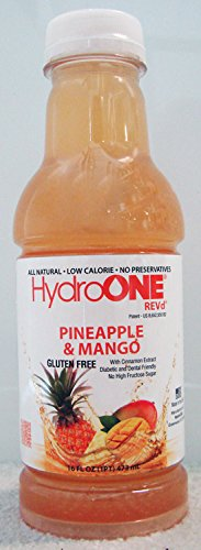 REVd Pineapple & Mango (16 fl oz.) Diabetic Friendly Premium Beverage, Sugar Free, Cinnamon Extract, 12pack