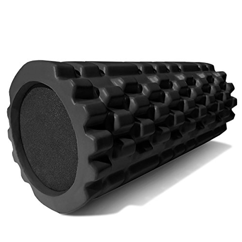 [Deep Tissue Massage Roller For Myofascial Release, Physical Therapy, and Scar Tissue, Black] (Work Team Costumes)