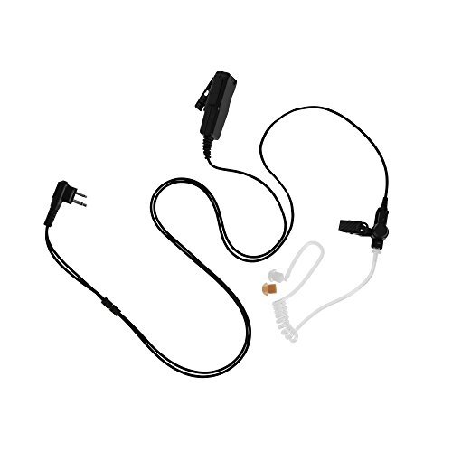 Maxtop ASK4032-M1 2-Wire Clear Coil Surveillance Kit Earphone for Motorola CP200 CP200D Bearcom BC95 BC120 BC130 ()