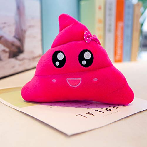 Maikouhai Plush Toy, Creative Poop Plush Doll Funny Face Funny Expression Office Table Desktop Poo Cushion Pillow for Car Seat, Bedroom, Hotel - Polyester & Cotton, Pink (20cm)]()