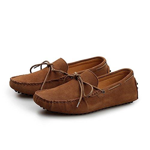 Spades & Clubs Casual-Slippers, Bootsschuhe für Herren aus Wildleder, flach Braun