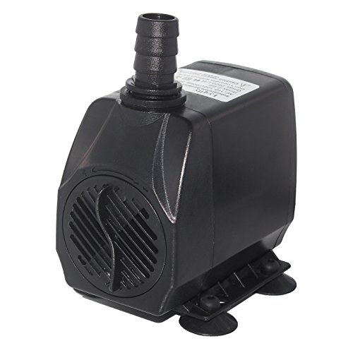 Lyqily 740 GPH (2800L/H) Submersible Water Pump For Aquarium, Pond, Fish Tank Fountain Water Pump Hydroponics with 5.9ft (1.8M) Power Cord