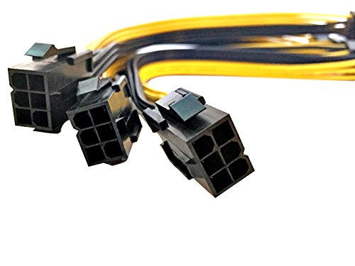 Eyeboot PCIE 6 Pin to 2 x 6 Pin PCI Express Dual Power Splitter 20cm Cable by Eyeboot (Image #2)