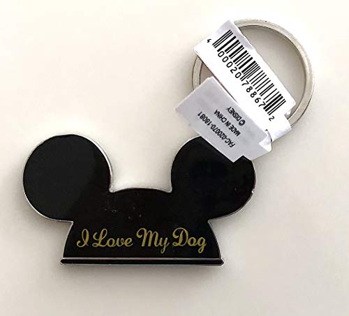 Walt Disney World Mickey Mouse Ears I Love My Dog Metal Keychain (I Love My Dog Keychain)