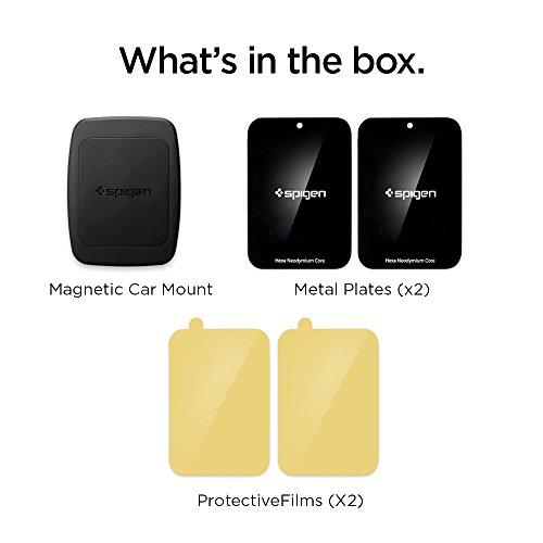 Spigen Kuel A201 Car Phone Mount Premium Magnetic Air Vent Phone Holder Compatible with iPhone X / 8/8 Plus / 7/7 Plus/Galaxy S9 / S9 Plus/Note 8 / Note 9 / S8 / S8 Plus & More by Spigen (Image #1)'