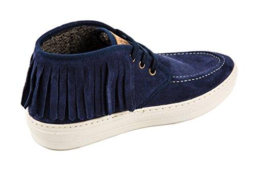 Zapatos De Cordones Para Mujer Natural World, Blue Blau 38