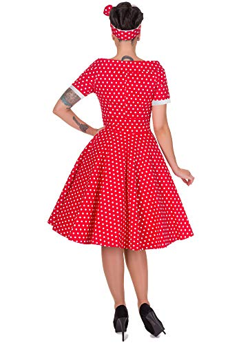 Rot Dotty Darlene Polka and Kleid Dolly Damen Dots 0w5Bnagq