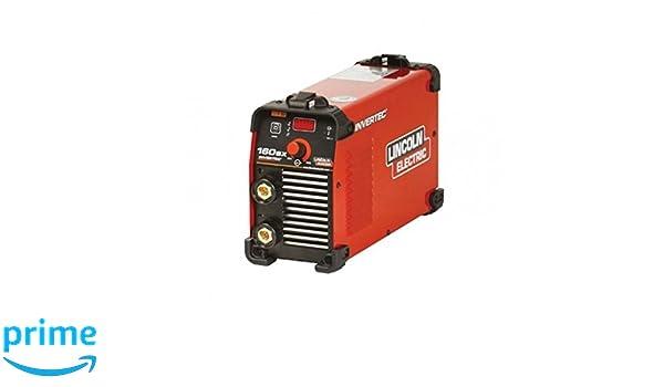 Lincoln Electric 0004906 Soldadora Inverter con Electrodo, 224 mm x 148 mm x 385 mm, 5-160 A: Amazon.es: Industria, empresas y ciencia